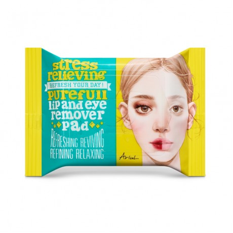 Stress Relieving Lip and Eye Remover Pad (30 Sheets)